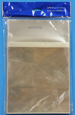 500 Generic OPP Plastic Bag for Standard 14mm DVD Case
