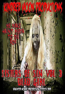 dead girl zombie projection effects dvd haunted house halloween props