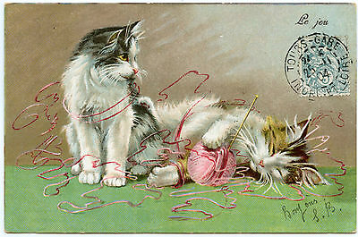 Chats  Cats  Katze   Le Jeu. Illustrateur Maurice Boulanger