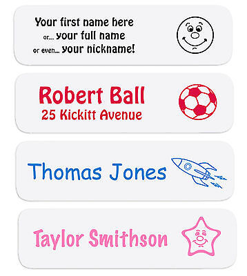 80 Iron On Name Labels Ideal for Nursery, Schools, Care Homes and free delivery