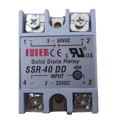 New Solid State Relay SSR-40 DD DC-DC 40A 3-32VDC Input 5-60VDC Output L5YG