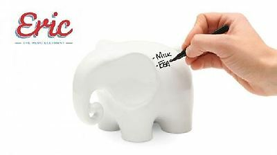 Eric The Memo Elephant Ceramic Writeable Pen & Cloth Message Board By Luckies