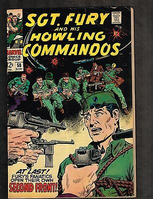Sgt Fury and his Howling Commandos #58 ~ Second Front ~ 1968 (5.0) WH