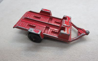 Red Tootsie Toy Motorcycle Trailer 1960'S Vintage