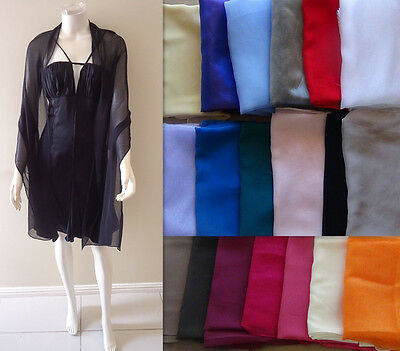Chiffon Bridesmaid Evening Shawls Scarf Wrap Shawl Stole 180CM X 45CM