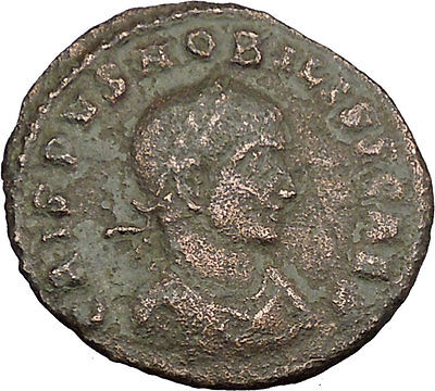 Crispus Constantine the Great son with Shield 317AD Ancient Roman Coin i39083