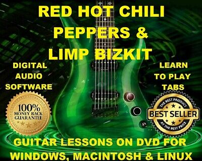 Red Hot Chili Peppers 472 & Limp Bizkit 180 Guitar Tab Software Lesson CD 144 BT