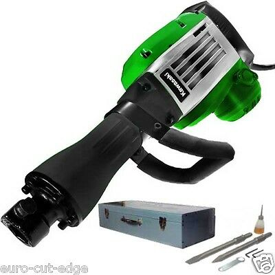 Kawasaki 1700W Electric 230V Demolition Hammer - 45 J - 2000 rpm