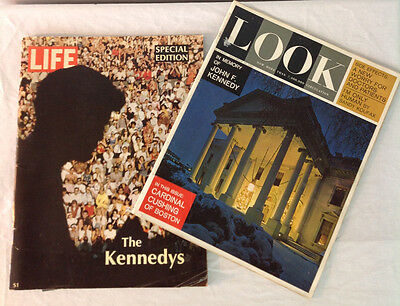 Vintage Life & Look Magazines Kennedy Special Edition 1968 & In Memory JFK 1963