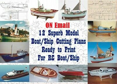 Digital Model Boat/Ship CUTTING Plans - Great Collection On CD - for RC/Display