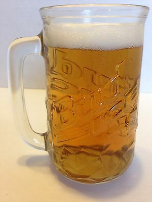 Beer Mugs Bud Ice Raised logo set of 2 Steins Vintage ManCave Barware Budweiser