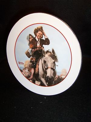 """6"""" Norman Rockwell Young Love series collector plate"""