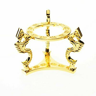 "Gold-plated Dragon Stand For Crystal Ball (3"" - 5"" diameter)"