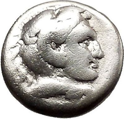 ALEXANDER III the GREAT 325BC Ancient Silver Macedonian Greek Coin Zeus i39149