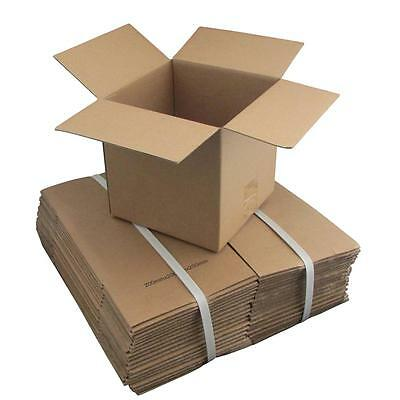 100 x Cardboard Boxes 200x200x200mm Brown Packaging Carton Mailing Box Strong