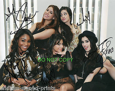 Fifth Harmony girl group reprint RP signed group photo All 5 #1 X-Factor