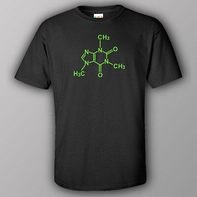 Funny BIG BANG THEORY INSPIRED T-shirt CAFFEINE MOLECULE COFFEE Bazinga SHELDON
