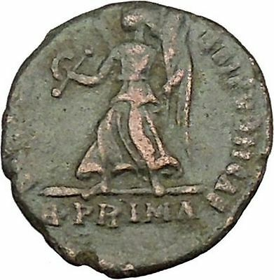 VALENS 367AD Rome mint R.PRIMA RARE Ancient Roman Coin Angel VICTORY Cult i39120