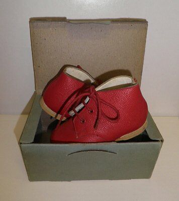 40s 'Kiltie' Original Red Leather Little Boy/Girls Boots in the Original Box