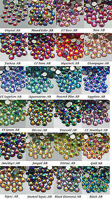 1440~7200pcs Gava High Quality Flatback Rhinestones Multiple Color AB Crystal