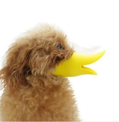 Yellow Color Silicon Dog Muzzle - Protection - Duck Billed - 3 Sizes