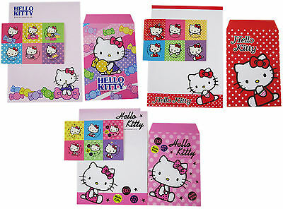 3 packs New Sanrio HELLO KITTY letter Papers & Envelop Envelope Stationery (S)