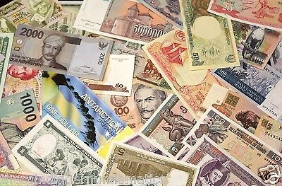 HUGE UNSEARCHED WORLD FOREIGN CURRENCY BANKNOTE BLOWOUT (SOLD IN LOTS OF 10)