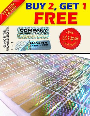 "140 Custom printed hologram VOID sticker label security warranty seals 1.2""X0.4"""