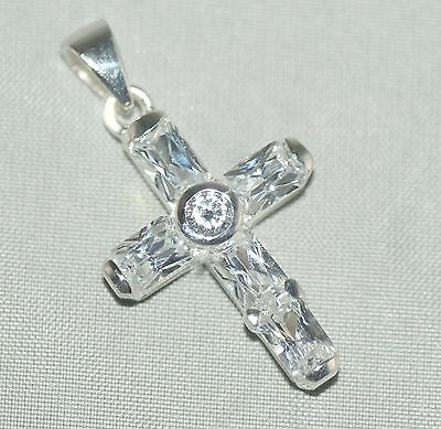 Crucifix / Cross Necklace Pendant  [ 925 Sterling Silver ]