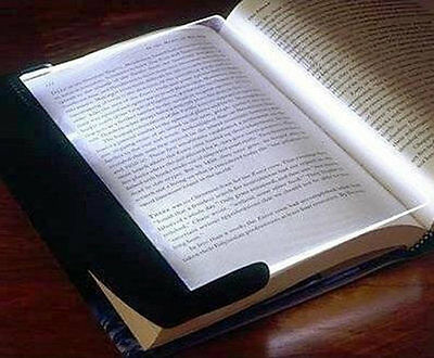 LED Light Lamp Wedge Board Panel for Book Travel Reading Night Study Paperback