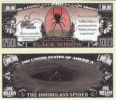 Novelty Notes / Fun Money - SCHWARZE WITWE / Spinne    *neu*