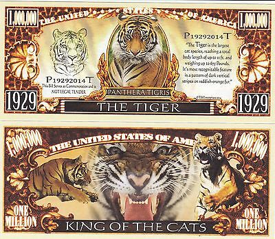 Novelty Notes / Fun Money / Spaßdollar - TIGER  *neu*