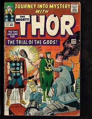 Journey Into Mystery #116 - Trial of the Gods - 1965 (VG) WH