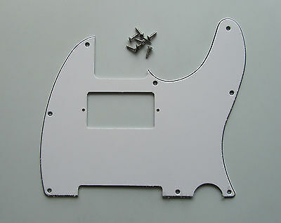 Tele Humbucker Pickguard Scratch Plate White 3 Ply for Telecaster Guitar