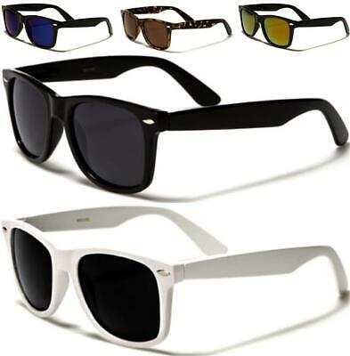 Designer Square Large Polarized Sunglasses Retro Black Big Mens Ladies Women's