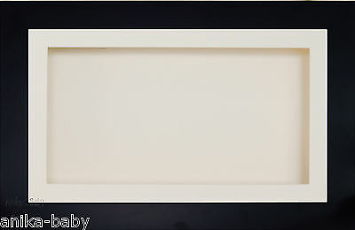Large 3D Black Box Display Frame Cream Flowers Medals Object Cast Baby Keepsake