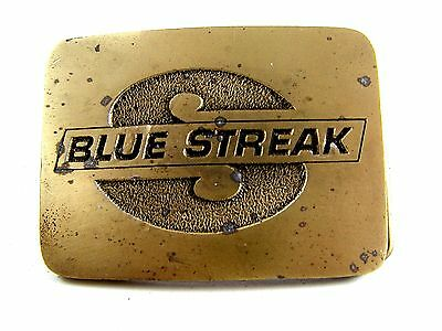 1970's Blue Streak Belt Buckle by CD Hit Made in USA