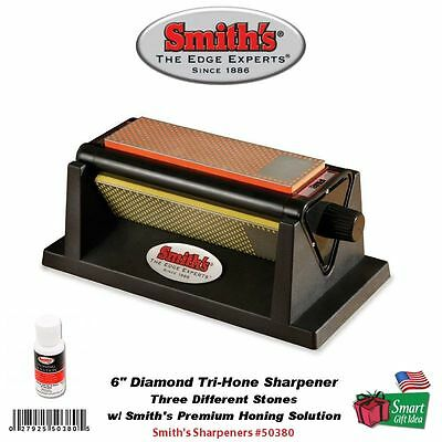"Smith's Abrasives 6"" Diamond Tri-Hone, Three Different Stones #50380"