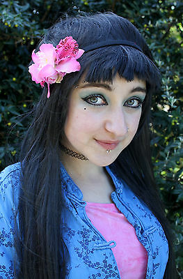 Pink Orcid Daisy Rose Flower Crown Hippy Pastel Festival Grunge Head Band