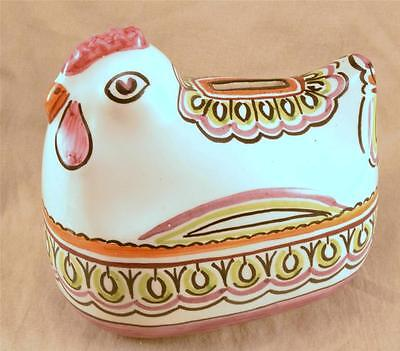 Ceramica Italy Vintage Hand Crafted & Painted Chicken Bank By F. Gensini VGC