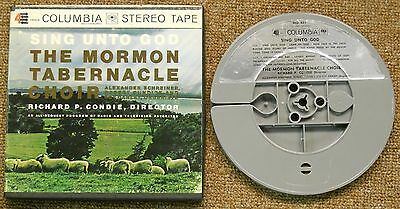 THE MORMON TABERNACLE CHOIR / SING UNTO GOD  REEL TO REEL TAPE TESTED