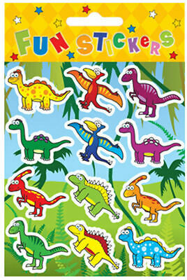 6 Dinosaur Sticker Sheets - Pinata Toy Loot/Party Bag Fillers Wedding/Kids