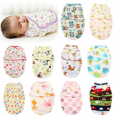 Newborn Baby Toddler Swaddle Wrap Blanket Sleeping Bag Sleep Sack Bedding UK