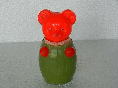 Vintage Celluloid Bear In Down Figure Toy, Japan