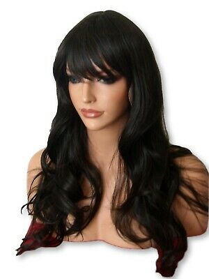 Wig Wavy Full Women Fashion natural dark brown cheap party Ladies Wig D-2