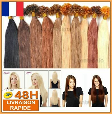 50 100 150 200 Extensions De Cheveux Pose A Chaud 100% Naturel Remy Hair 49-60Cm