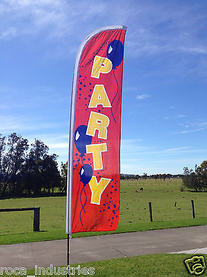 Party Beach Flag - great for your kids B'day Party - REDUCED TO CLEAR !!