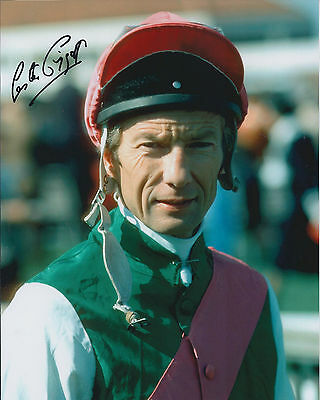 Lester PIGGOTT Signed Autograph 10x8 Photo AFTAL COA Jockey Horse Racing Genuine
