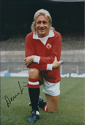 Denis LAW Signed Autograph 12x8 Photo AFTAL COA Manchester United Genuine RARE