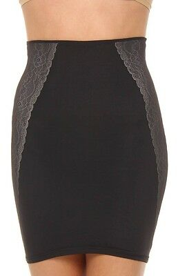 Assets Red Hot by Spanx Luxe And Lean Half Slip 1686 Black Rosewater S M L XL